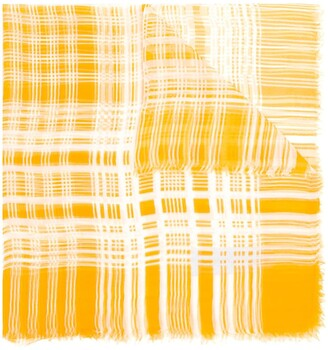 Saint Laurent Pre-Owned 1960's plaid frayed scarf