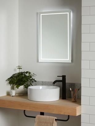 John Lewis & Partners Frame Wall Mounted Illumintaed Bathroom Mirror, Medium