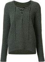 Nili Lotan lace-up jumper - women - Cashmere - M