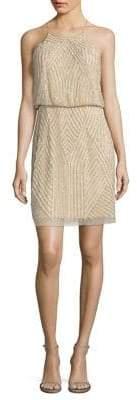 Aidan Mattox Sequins Blouson Dress