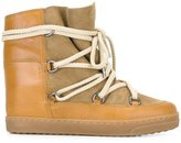 Etoile Isabel Marant Isabel Marant - Étoile 'Nowles' lace-up boots - women - Leather/Sheep Skin/Shearling/Suede/rubber - 36