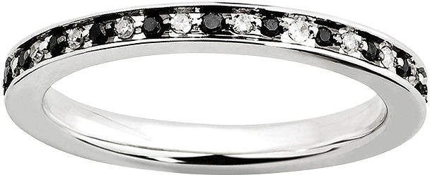Black Diamond FINE JEWELRY Personally Stackable CTW White & Color-Enhanced Eternity Ring