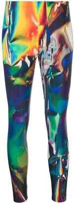 Junya Watanabe Abstract Print Leggings