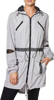 Betsey Johnson Mesh-Trim Parka Jacket