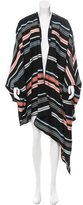 Kenzo Wool Striped Cape w/ Tags