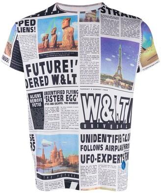 Walter Van Beirendonck Pre-Owned 1997's Welcome Little Stranger newspaper print T-shirt
