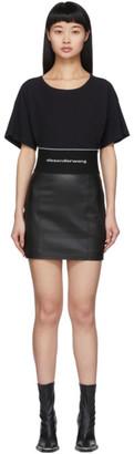 Alexander Wang Black Leather Miniskirt
