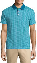 Claiborne Short Sleeve Pattern Polo Shirt