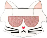 Karl Lagerfeld cat-shaped clutch - women - Calf Leather/Polyester/Polyethylene/PVC - One Size