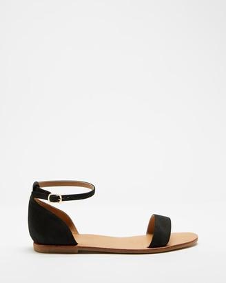 Spurr Women's Black Flat Sandals - Tash Sandals - Size 6 at The Iconic