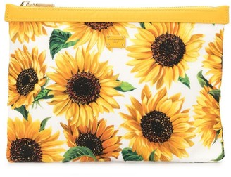 Dolce & Gabbana flat sunflower wallet