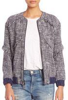 Diane von Furstenberg Braelyn Tweed Bomber Jacket