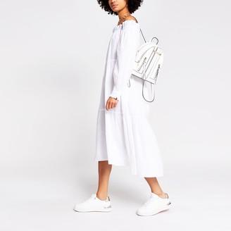 River Island Womens White bardot maxi puff dress