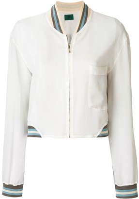 Jean Paul Gaultier Pre-Owned sheer bomber jacket