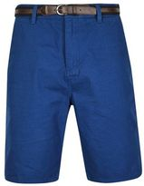 Burton Burton Tokyo Laundry Mid Blue Shorts With Belt*