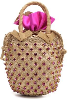 Le Nine Woven Crystal Embellished Tote Bag