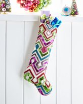 Kim Seybert Playful Brights Collection Chevron Stocking