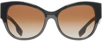 Burberry Monogram Detail Butterfly Frame Sunglasses