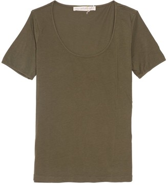 Plays Well With Others The Frequent Flyer Tee in Green Peace