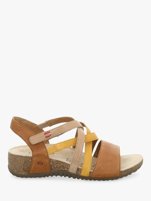 Josef Seibel Natalya 10 Leather Wedge Sandals