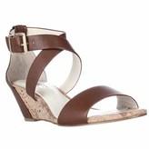 BCBGeneration Valisa Cross Strap Wedge Sandals, Caramel/natural.