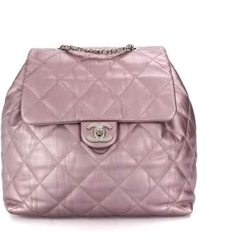 Chanel Pre Owned 2017 diamond quilted drawstring backpack