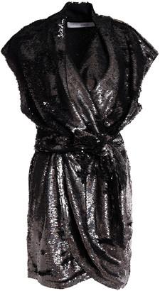 IRO Wrap-effect Sequined Jersey Mini Dress