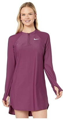 Nike Long Sleeve Swim Tunic Cover-Up (Villain Red) Women's Swimwear