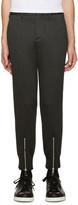 Neil Barrett Grey Neoprene Trousers
