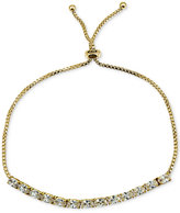 Giani Bernini Cubic Zirconia Oval Adjustable Slider Bracelet in 18k Gold-Plated Sterling Silver, Only at Macy's