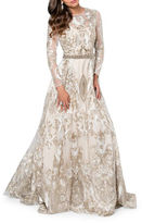 Glamour By Terani Couture Embroidered Fit and Flare Gown