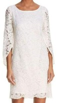 Thumbnail for your product : Nanette Lepore Women's L/s Tulip Sleeve Lace Shift Dress W/Scoop Back
