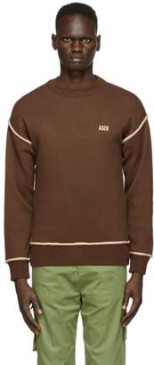 Ader Error Brown Basic Masking Sweater