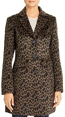 Laundry by Shelli Segal Leopard Print Coat