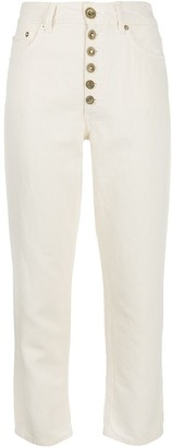 Dondup Denim High Rise Cropped Jeans
