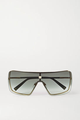 Givenchy Oversized D-frame Gold-tone And Acetate Sunglasses - Gray