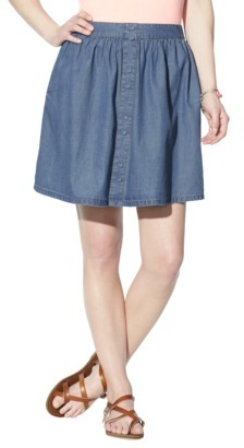 Mossimo Juniors Denim Button Down Skirt - Assorted Colors