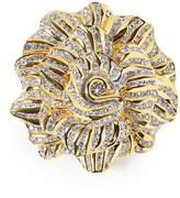 Kenneth Jay Lane Glass crystal rose brooch