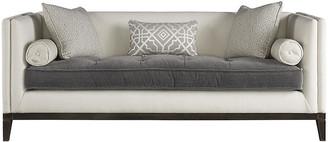 One Kings Lane Hartley Tufted Sofa - Gray/ Ivory Crypton Crypton