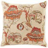 Southern Living Harvest Collection Floral-Embroidered Square Pillow