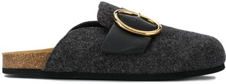 J.W.Anderson Round Buckle Open-Back Slippers