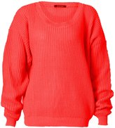 GirlzWalk ® Women Chunky Knitted Baggy Jumper Plus