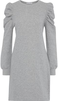 Rebecca Minkoff Janine Gathered Cotton-blend Fleece Mini Dress