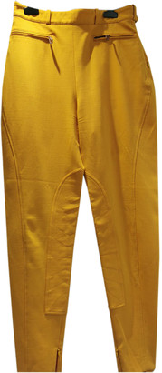 Hermes Yellow Wool Trousers