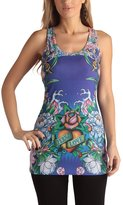 Ed Hardy Womens Eternal Love Mini Racer Tunic Dress