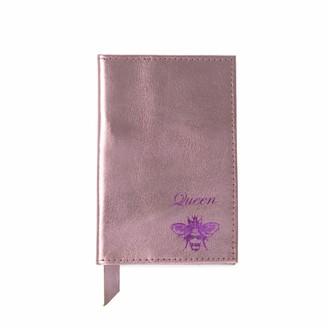 Queen Bee Metallic Pink Leather Passport Cover