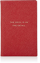 """Smythson The Devil Is In The Details"""" Panama Wafer Notebook"""