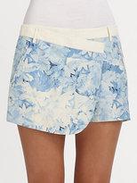 Tibi Daisies Wrap Shorts
