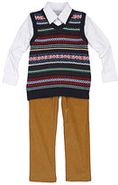 Class Club 2T-7 Fairisle Sweater Vest Set