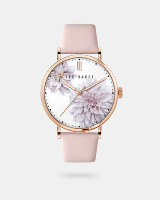 Ted Baker PHYBI Clove leather strap watch